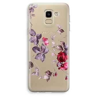 Samsung Galaxy J6 (2018) Transparent Case (Soft) - Pretty flowers