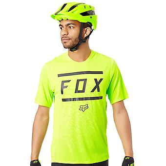 Fox Yellow-Black 2018 Ranger Bars Short Sleeved MTB Jersey