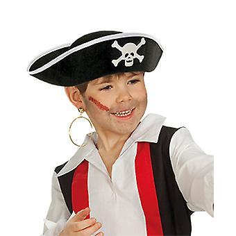Bambini del pirata e adulto pirata cappello