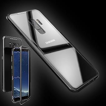For Samsung Galaxy S9 plus G965F magnet / metal / glass case bumper transparent black bag case new