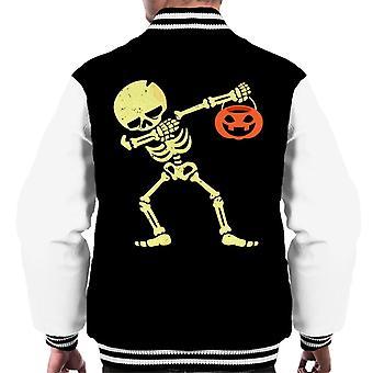 Dabbing Skeleton Men's Varsity Jacket