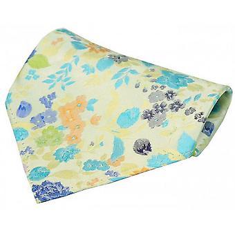 Posh og Dandy blomster Pocket Square - gul/blå