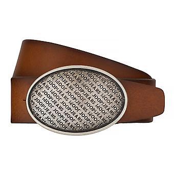 JOOP! Ceintures pour hommes ceintures cuir fermoir couplage Cognac 7509