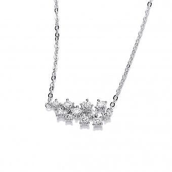 Cavendish franska Silver och CZ stjärnbilden halsband