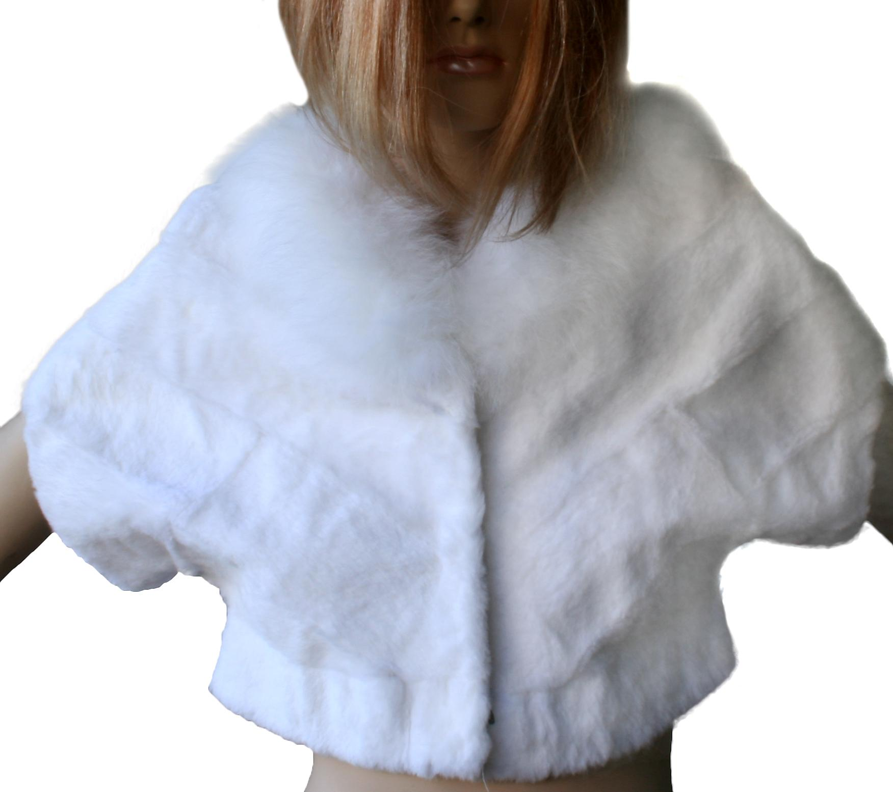 Waooh - Fashion - Jacket Fur Collar White Rabbit And Fox