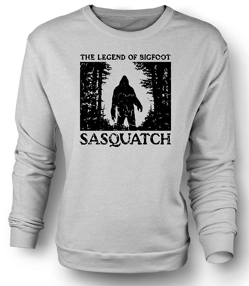 Mens Sweatshirt Sasquatch Yeti Bigfoot Sighting - Cryptozoology