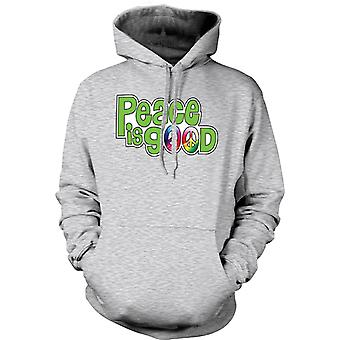 Kids Hoodie - Peace Is Good - Lettering