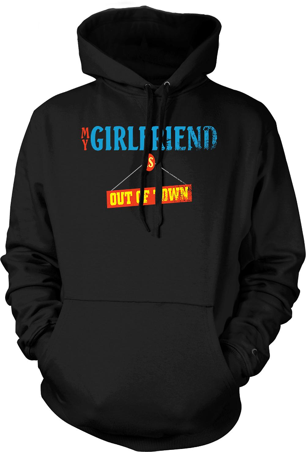 Mens Hoodie - My Girlfriend Is Out Of Town - Joke