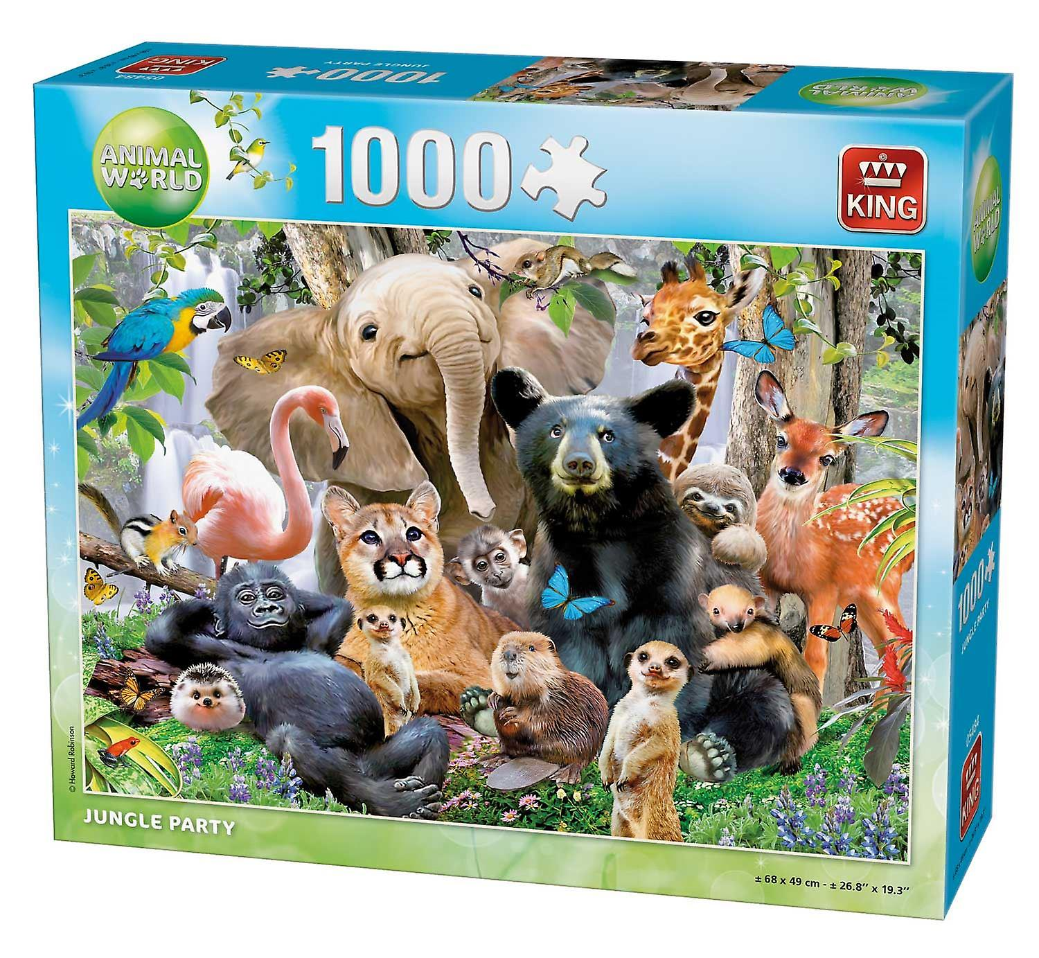 King Jungle Party Jigsaw Puzzle (1000 Pieces)
