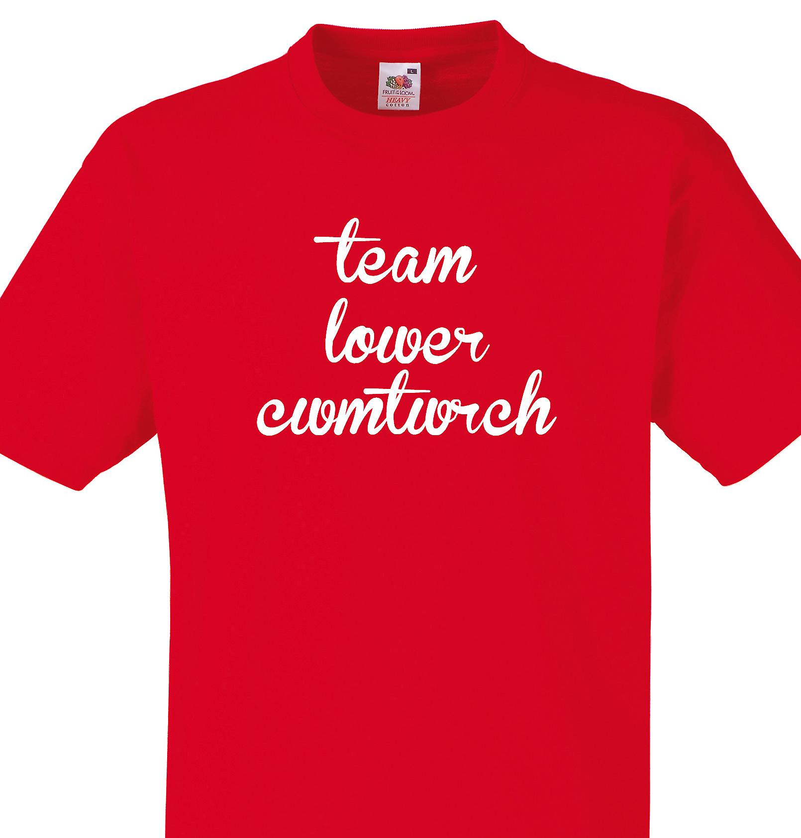 Team Lower cwmtwrch Red T shirt