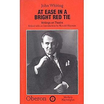 Tryg i en lyse rødt slips