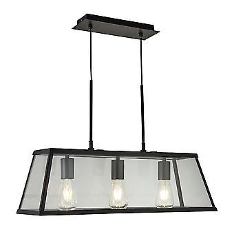 Voyager sort tre lys lanterne vedhæng - projektør 4613-3BK