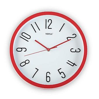Wellindal day red wall clock 30cm (Decoration , Clocks)