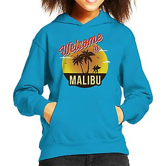Welcome To Malibu Retro Kid's Hooded Sweatshirt