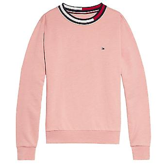 Tommy Hilfiger Girls Long Sleeve Track Top, Rose Tan, Large