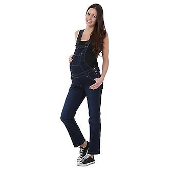 Denim Maternity Dungarees - Darkwash Pregnancy Fashion Overalls