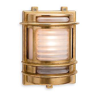 Firstlight-1 ljus utomhus vägg ljus mässing, frostat glas IP64-5924BR