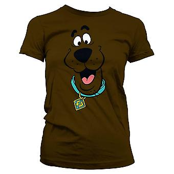 Vrouwen Scooby Doo face uitgerust T-shirt