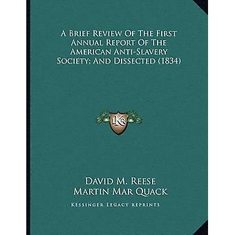 A Brief Review of the First Annual Report of the American Anti-Slaver