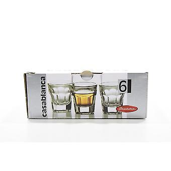 Een set van Casablanca glazen voor likeur