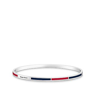 Washington Nationals - Nationals Engraved Two-Tone Enamel Bracelet In Red And Dark Blue