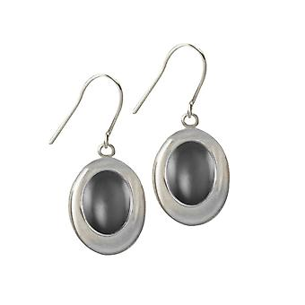 Eternal Collection Idaho Hematite Silver Tone Drop Pierced Earrings