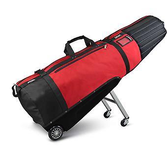 Sun Mountain ClubGlider Meridian Acolchado Golf Wheeled Travel Flight Cover Negro/Rojo