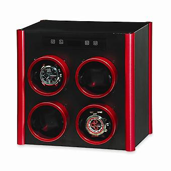 Rotations Black & Red Metal Quad Watch Winder
