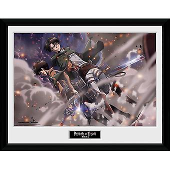 Attack On Titan Smoke Blast Framed Collector Print 40x30cm