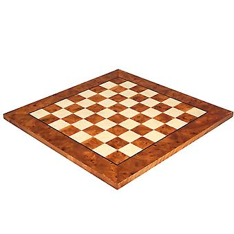 20.5 Inch Briarwood and Elm Luxury Chess Board