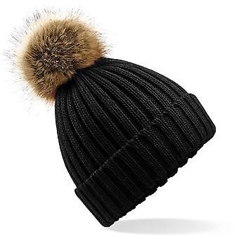 Beechfield - Chapeau de bonnet De Pom Chunky Fur Pop