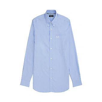 Fred Perry Oxford långärmad skjorta ljus rök