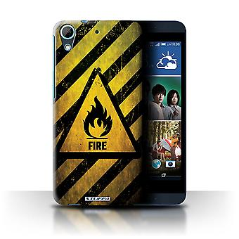 STUFF4 Case/Cover for HTC Desire 626G+/Fire/Flammable/Hazard Warning Signs