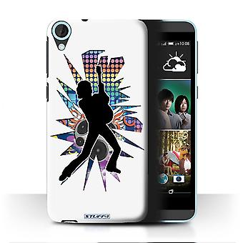 STUFF4 Case/Cover for HTC Desire 820s Dual/Lean White/Rock Star Pose