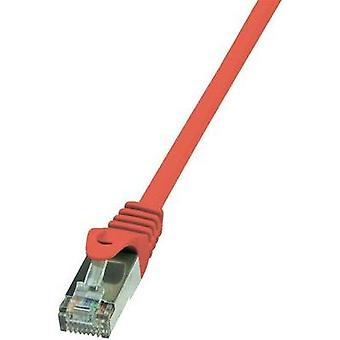 RJ49 Networks Cable CAT 5e SF/UTP 0.50 m Red incl. detent LogiLink