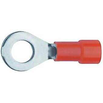 Ring terminal Cross section (max.)=1 mm² Hole Ø=6.5 mm Partially insulated Red Klauke 6206 1 pc(s)
