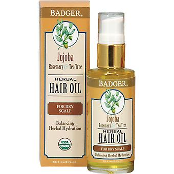 Badger Balm Jojoba, Rosemary & Tea Tree Hair Oil