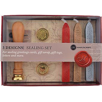 Design Sealing Set 3 Coins-Quill, Christmas, Heart Coins MSH7453S