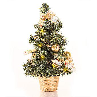Bigbuy Small Led Christmas Tree With Ornaments