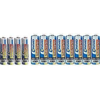 Conrad energy Battery set AAA, AA, 12 pc(s)