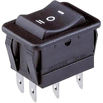 Toggle switch 250 Vac 16 A 2 x On/Off/On Arcolectric H1570 VB AAA latch/0/latch 1 pc(s)