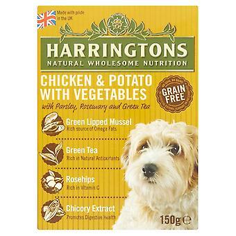 Harringtons våd kylling & kartofler 150g (pakke med 7)
