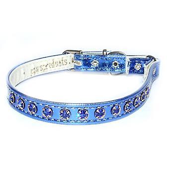 Exquisite Cat Collar Vinyl Blue