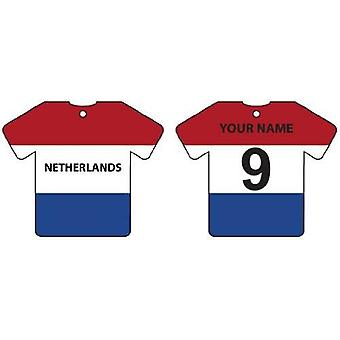 Personalised Netherlands Flag Jersey Car Air Freshener
