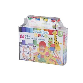 Kids Hair Stylist Doughset 14Pcs