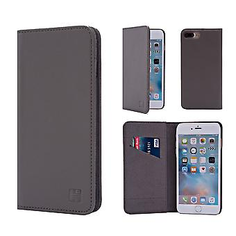 32nd Classic Real Leather Wallet for Apple iPhone 7 Plus  / iPhone 8 Plus  - Elephant Grey