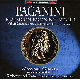 N. Paganini - jugado Paganini en el violín de Paganini, importación USA Vol. 2 [CD]