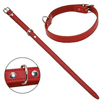 Petpall Collar Cuero Liso 40 Cm Rojo (Dogs , Collars, Leads and Harnesses , Collars)