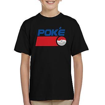 Poke Cola 90s Pokemon Pepsi Kid's T-Shirt