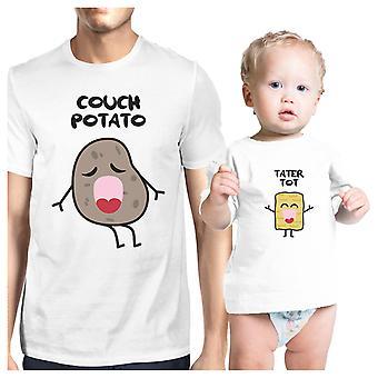 Couch-Potato Tater Tot niedliche Grafik passenden Tees für Papa und Baby
